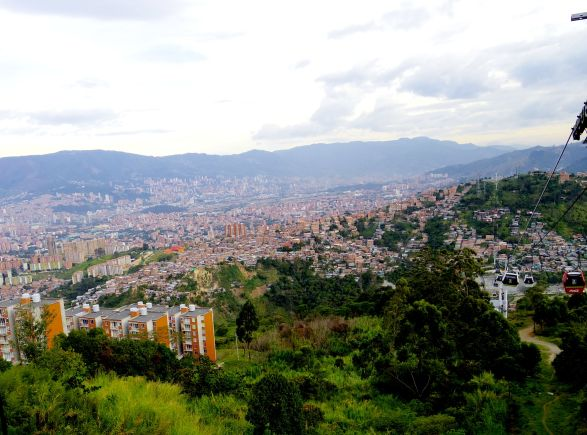 View of the city from one side of the mountain