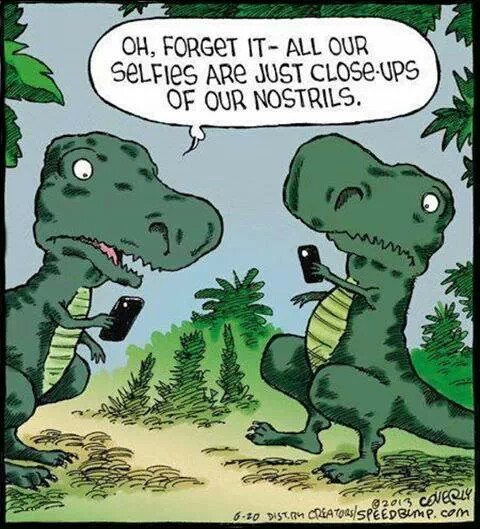dinosaurs on cell phones